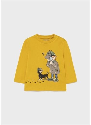 Mayoral Mayoral Erkek Bebek Baskılı Sweatshirt Sarı